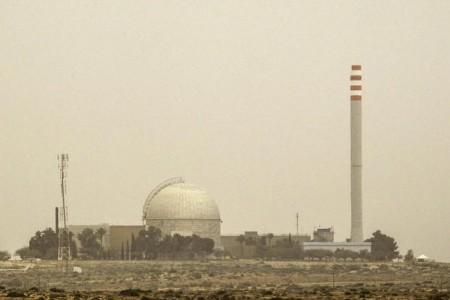 A picture taken on March 8, 2014 show a partial view of the Dimona nuclear power plant in the southern Israeli Negev desert. AFP PHOTO / JACK GUEZ