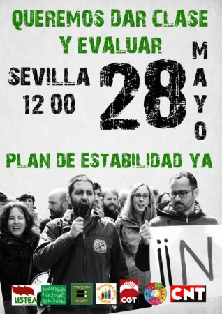 Sevilla: Manifestación docentes