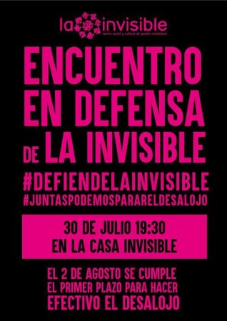 Málaga: Acto en defensa de La Invisible