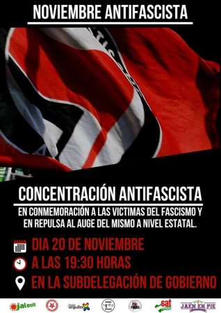 Jaén: Concentración antifascista