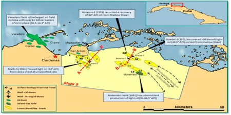 petroleo cuba mapa