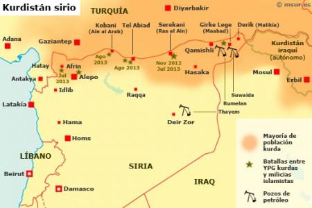 kurdistan-siria-mapa