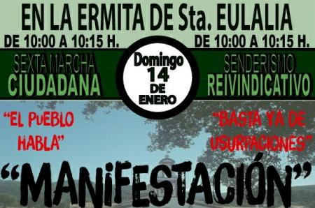 manifestación-Ermita-de-Santa-Eulalia