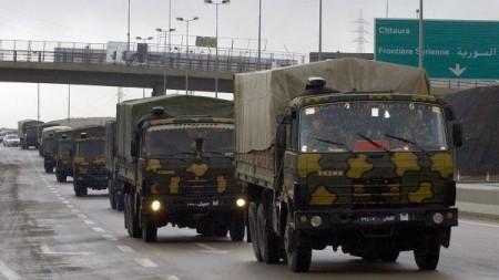 convoy militar sirio en afrin
