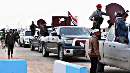 milicias gubernamentales en afrin