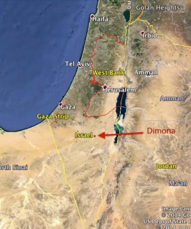 israel dimona mapa