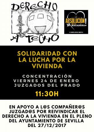 Sevilla: Concentración en apoyo a las 18 personas juzgadas por protestar en un pleno del Ayuntamiento