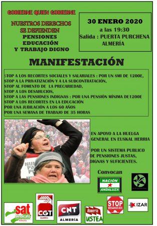 Almería: Manifestación en solidaridad con la huelga en Euskal Herria