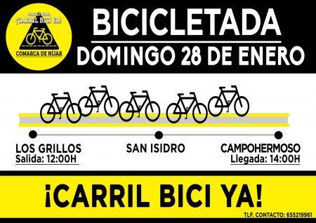 Almería: Biciletada en Níjar por un carril bici