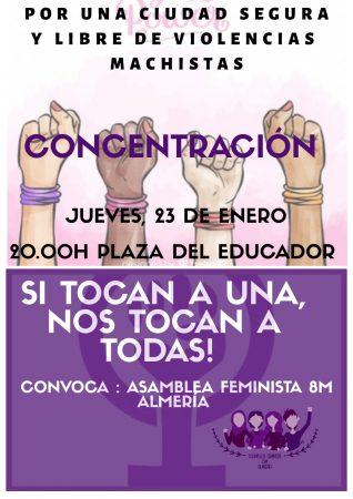Almería: Concentración contra la violencia machista