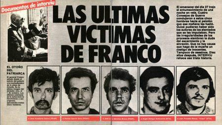 Últimos asesinatos del Franquismo
