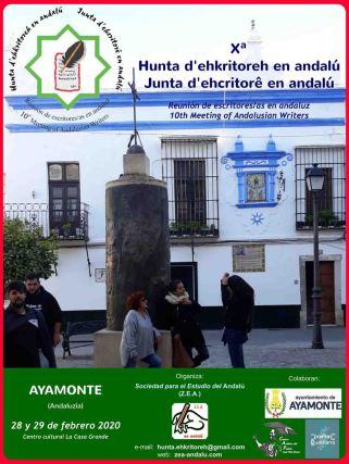 Ayamonte: X Reunión de escritores/as en andaluz - X Hunta d'ehkritoreh en andalú - X Junta d'ehcritorê en andalú