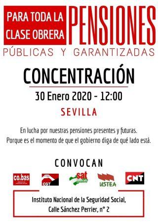 Sevilla: Concentración por las pensiones públicas y garantizadas