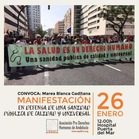 Cádiz: Manifestación por la sanidad pública
