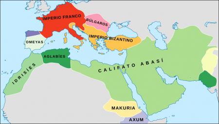 La realidad política del Mediterráneo en el siglo IX, declarado ya en Al Ándalus el Emirato Independiente de Bagdag.