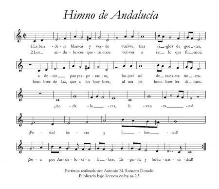 Primera interpretación pública del Himno de Andalucía