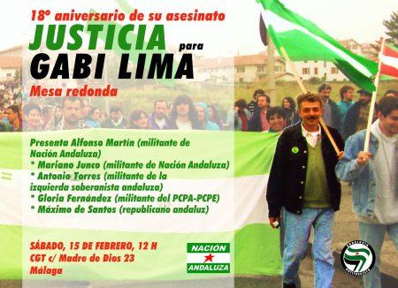 Málaga: Mesa redonda sobre Gabi Lima en el 18º aniversario de su asesinato