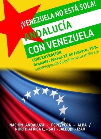 """Granada: Concentración """"¡Venezuela no está sola! Andalucía con Venezuela"""""""