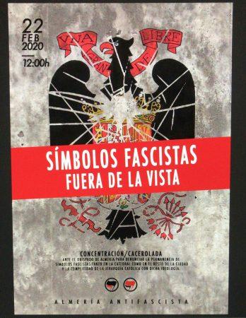 Almería: Concentración - Símbolos fascistas fuera de la vista