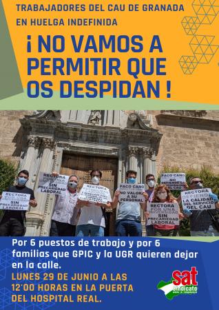 Granada: Concentración trabajadores en huelga de la UGR