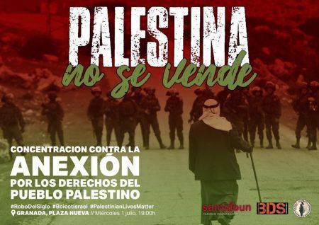 Granada: Concentración contra la anexión de Cisjordania
