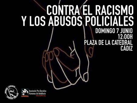 Cádiz: Concentración contra el racismo y el abuso policial