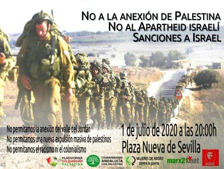 Sevilla. Concentración contra la anexión de Palestina