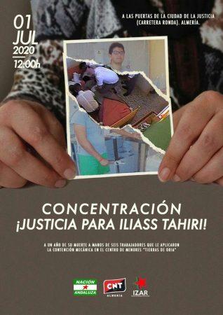 Almería: Concentración por Iliass Tahiri