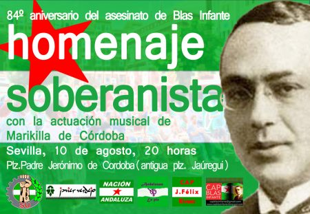 Sevilla: Homenaje soberanista a Blas Infante