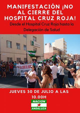 Almería: Manifestación contra el cierre del hospital de la Cruz Roja