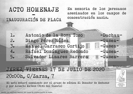 Jerez: Acto homenaje asesinados en los campos de concentración nazis