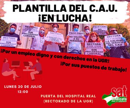 Granada: Concentración trabajadores UGR en lucha