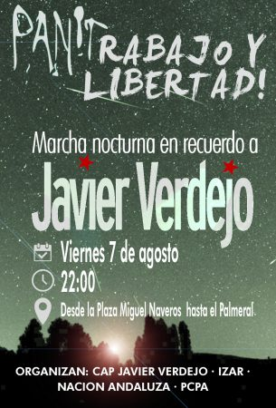Almería: Marcha nocturna en homenaje a Javier Verdejo