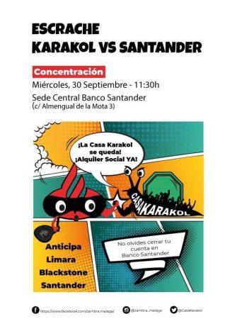 Málaga: Concentración en contra de los especuladores promovido por Casa Karakol