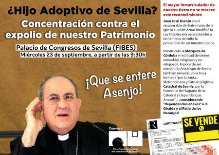 Sevilla: Concentración contra el expolio de nuestro Patrimonio