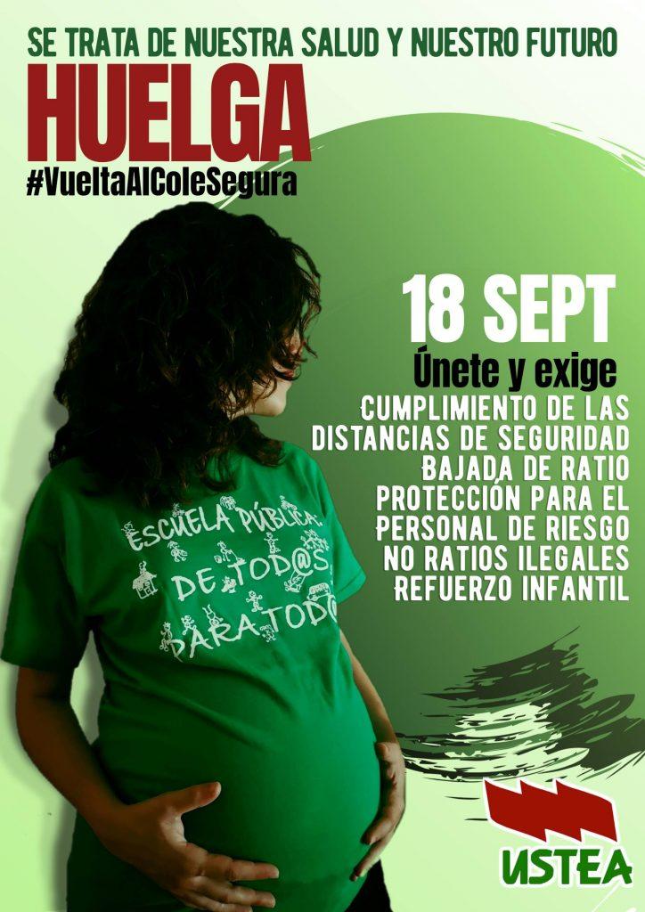 Huelga en educación en Andalucía el 18 de septiembre