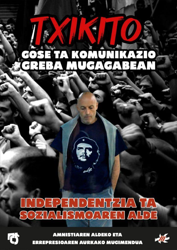 Txikito permanece ingresado en el hospital Puerto Real tras más de 20 días en huelga de hambre, según el Movimiento Pro Amnistía