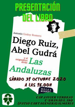 """Almería: Presentación del libro """"Diego Ruiz, Abel Gudrá y el enigmático diván 'Las Andaluzas'"""""""