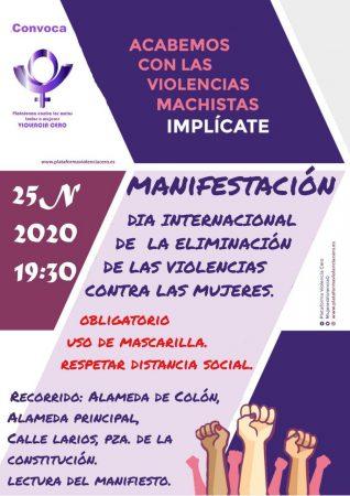 Movilizaciones en el Día contra la violencia hacia las Mujeres