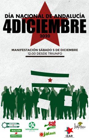 Granada: Manifestación por el 4D-Día Nacional de Andalucía