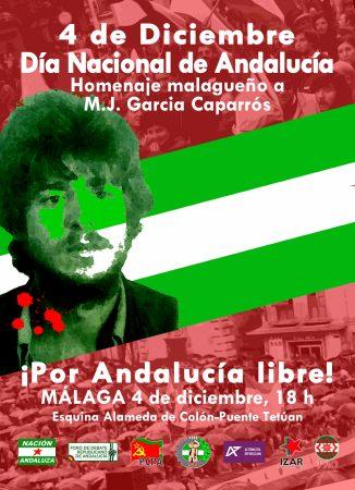 Málaga: Concentración por el 4D-Día Nacional de Andalucía