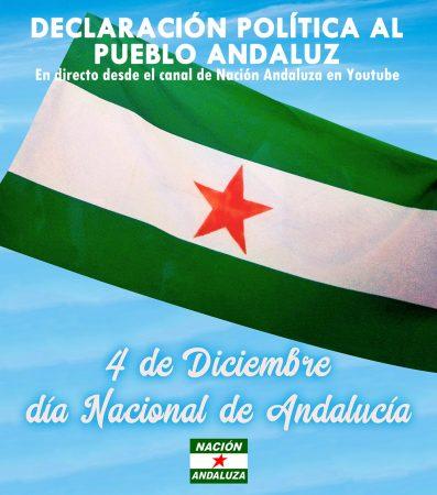 Directo on-line: Declaración política de Nación Andaluza por el 4D-Día Nacional de Andalucía