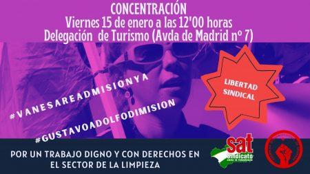 Granada: Concentración por la readmisión de Vanesa