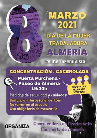 Movilizaciones 8M en Andalucía