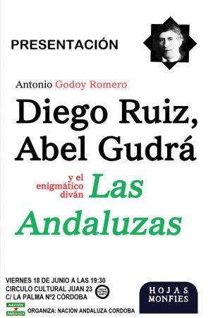 """Córdoba: Presentación del libro """"Diego Ruiz, Abel Gudrá y el enigmático diván Las Andaluzas"""""""