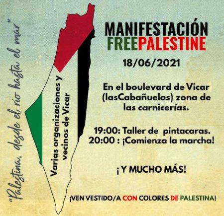 Poniente Almeriense: manifestación por la libertad de Palestina