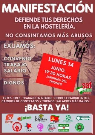 Granada: Manifestación por los derechos de los trabajadores de la hostelería