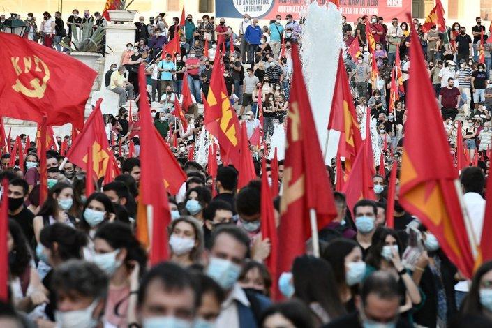 Manifestación KKE en Grecia