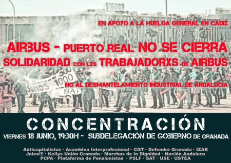 Granada: Concentración contra el cierre de AIRBUS