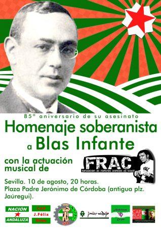 Homenaje soberanista a Blas Infante en el 85º aniversario de su asesinato